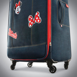 "American Tourister Disney Minnie Denim Krush 21"" Spinner - Lexington Luggage"