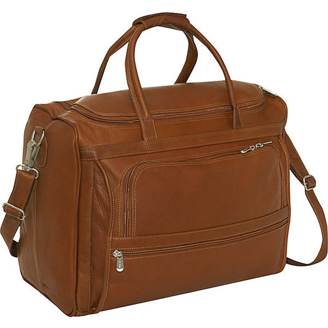 Piel Leather Travel Computer Carry All Bag - Lexington Luggage