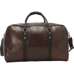 Piel Leather Travel Classic Vintage Zip-Down Duffel - Lexington Luggage