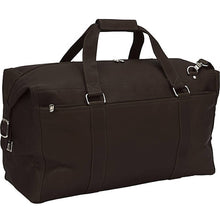 "Piel Leather Travel 22"" Extra Large Zip Pocket Duffel - Lexington Luggage"