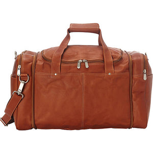 Piel Leather Travel Collapsible Duffel to Carry All - Lexington Luggage