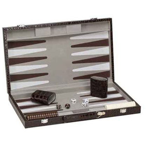 "CHH Games 18"" Deluxe Alligator Backgammon Set - Lexington Luggage"