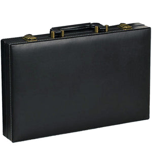"CHH Games 15"" Black Leatherette Backgammon Set - Lexington Luggage"