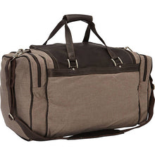"Piel Leather Travel 20"" Duffel Bag with Pockets - Lexington Luggage"