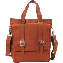 Piel Leather Travel Buckle Flap-Over Shoulder Bag - Lexington Luggage