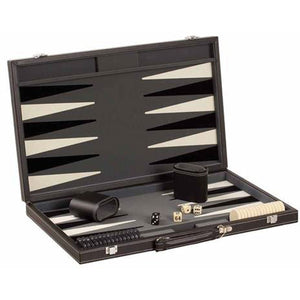 "CHH Games 18"" Black/White Backgammon Set - Lexington Luggage"