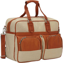 Piel Leather Travel Carry On with Pockets - Lexington Luggage