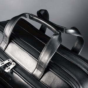Samsonite Leather Business Cases Expandable Business Case - Lexington Luggage