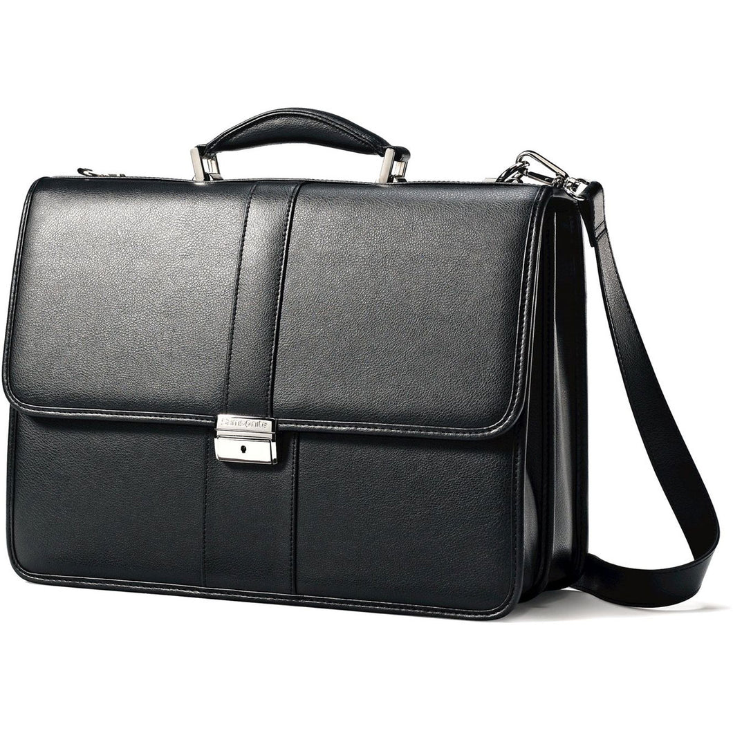 Samsonite Leather Business Cases Leather Flapover Case - Lexington Luggage