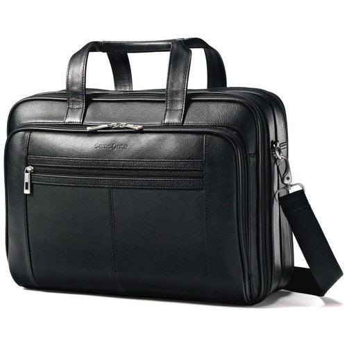 Samsonite Leather Business Cases Checkpoint Friendly Case - Lexington Luggage