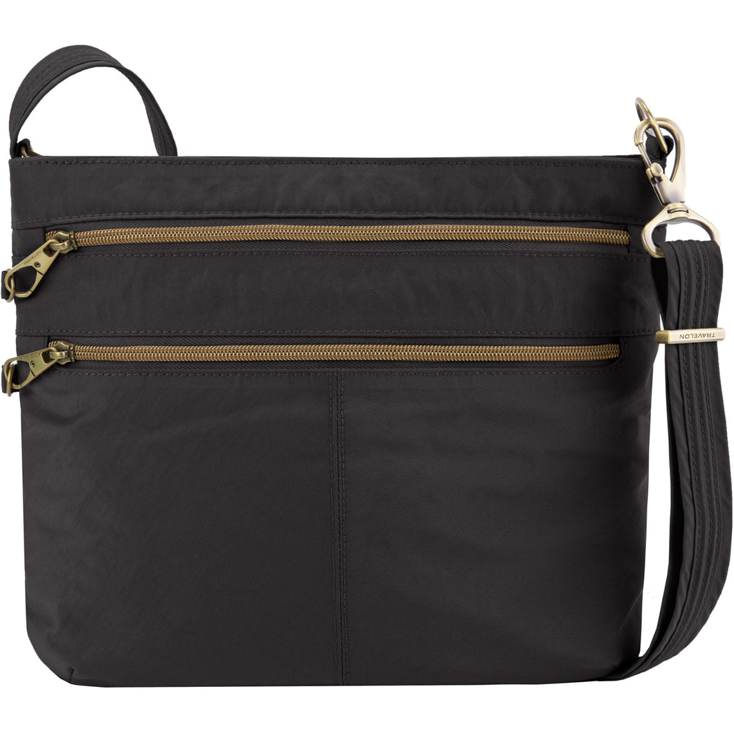 Travelon Anti-Theft Signature Double Zip Crossbody - Lexington Luggage
