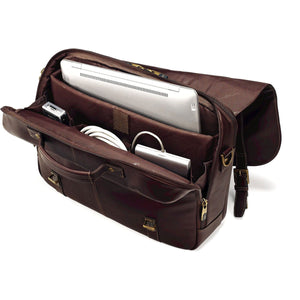Samsonite Leather Business Cases Flapover Case Dbl Gusset - Lexington Luggage
