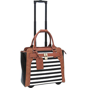 Cabrelli Fashion Executive Sally Stripe Rollerbrief - Lexington Luggage