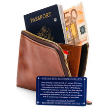 Bosca Dolce Zip Passport - RFID - Lexington Luggage