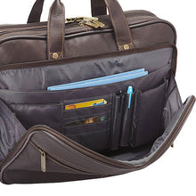 "Heritage Colombian Leather Dbl Comp. Top Zip 16"" Computer Portfolio - Lexington Luggage"