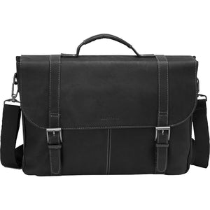 "Heritage Colombian Leather Dbl. Comp. Flapover 16"" Computer Portfolio - Lexington Luggage"