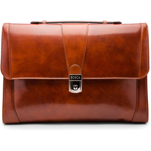 Bosca Old Leather Thin Envelope Brief - Lexington Luggage