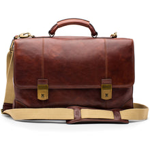 Bosca Dolce Double Gusset Flapover - RFID - Lexington Luggage
