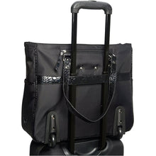 "Heritage Single Compartment Top Zip Wheeled 17"" Computer Tote - Lexington Luggage"