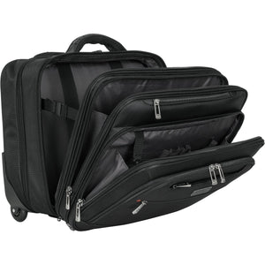 Heritage Triple Comp TopZip 2 Wheel Computer Portfolio/Overnighter - Lexington Luggage