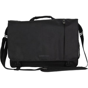 "Heritage Dual Comp Flapover 15.6"" Computer Messenger Bag - Lexington Luggage"