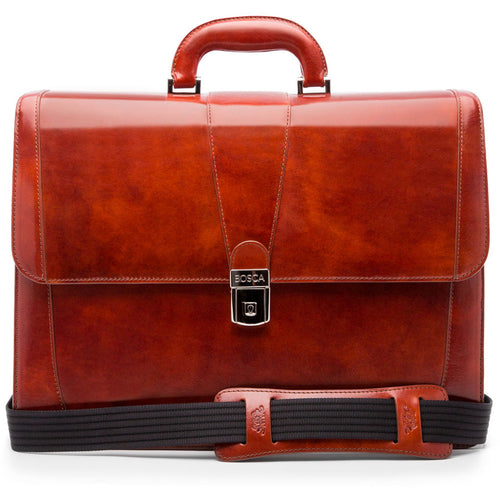Bosca Old Leather Double Gusset Brief - Lexington Luggage