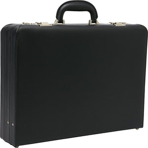 "Heritage Vinyl Single Compartment 17.3"" Computer Attache Case - Lexington Luggage"