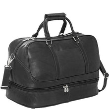 Piel Leather Travel False Bottom Sports Bag - Lexington Luggage