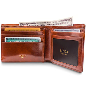 Bosca Old Leather 5 Pocket Wallet w/ID - Lexington Luggage
