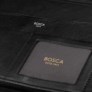 Bosca Nappa Vitello Deluxe Zip Around Portfolio Organizer - Lexington Luggage