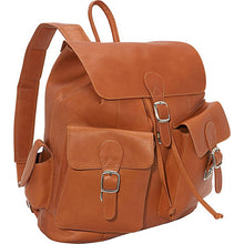 Piel Leather Travel Large Buckle-Flap Backpack - Lexington Luggage