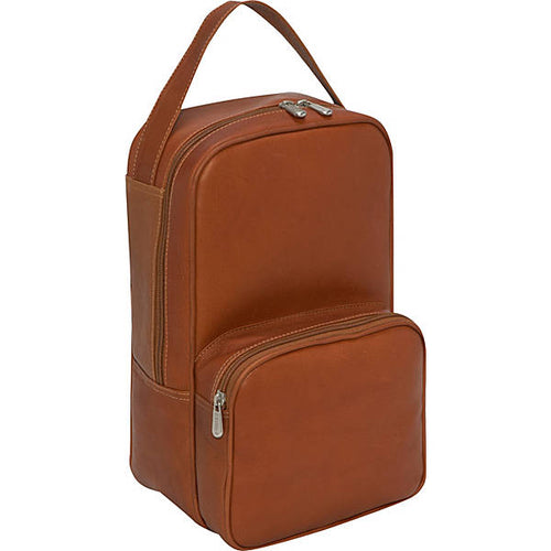 Piel Leather Travel Carry All Vertical Shoe Bag - Lexington Luggage