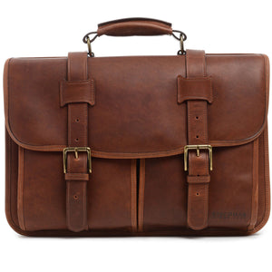 Korchmar Legacy Collection Garfield Leather Laptop Messenger - Lexington Luggage