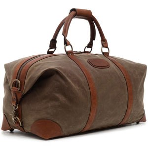 "Korchmar Expedition Collection Twain 22"" Waxed Canvas Weekender - Lexington Luggage"