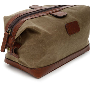 Korchmar Expedition Collection Ryder Waxed Canvas Dopp Kit - Lexington Luggage