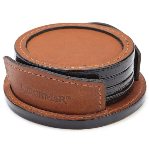 Korchmar Classic Collection Frost Leather Coasters - Lexington Luggage