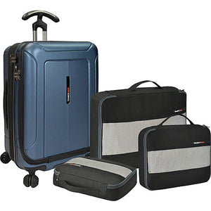 "Traveler's Choice Barcelona 22"" Carry On Front Opening Spinner w/Packing Set - Lexington Luggage"