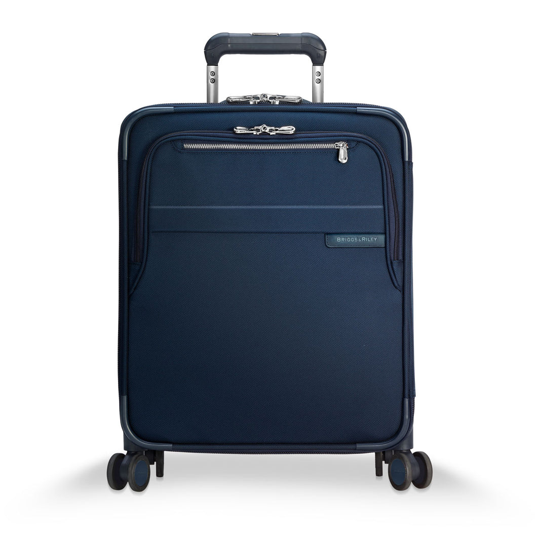 Briggs & Riley Baseline Navy Intl. Carry on Exp. Wide-Body Spinner - Lexington Luggage