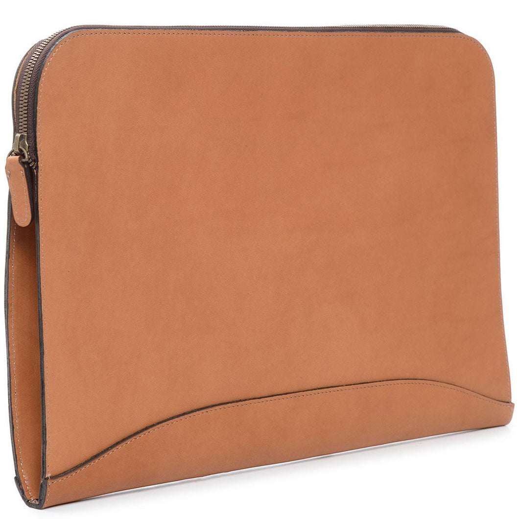 Korchmar Classic Collection Grant Zippered Leather Envelope - Lexington Luggage