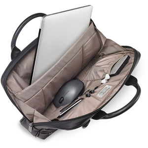 Briggs & Riley @Work Leather Slim Brief - Lexington Luggage