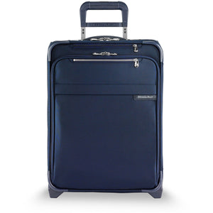Briggs & Riley Baseline Navy Intl Carry on Exp Wide-Body Upright - Lexington Luggage