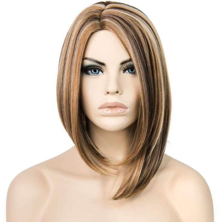 "Her Wig Closet 10"" Short Bob Mix Blonde Side Part Wig"