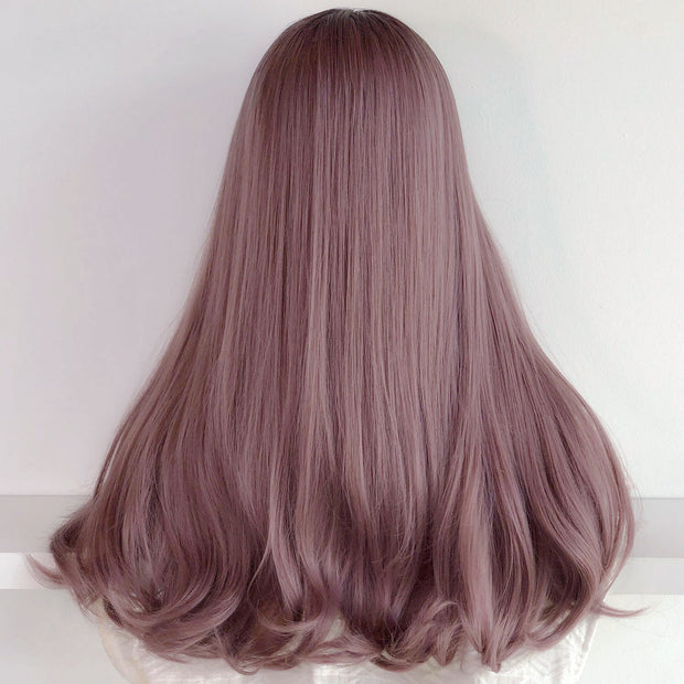 "24"" Dark Root Dusty Pink Ombre 
