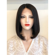 Lace Front Bob Wig Silky Straight Brazilian Straight Virgin Human Hair Unprocessed 180% Density