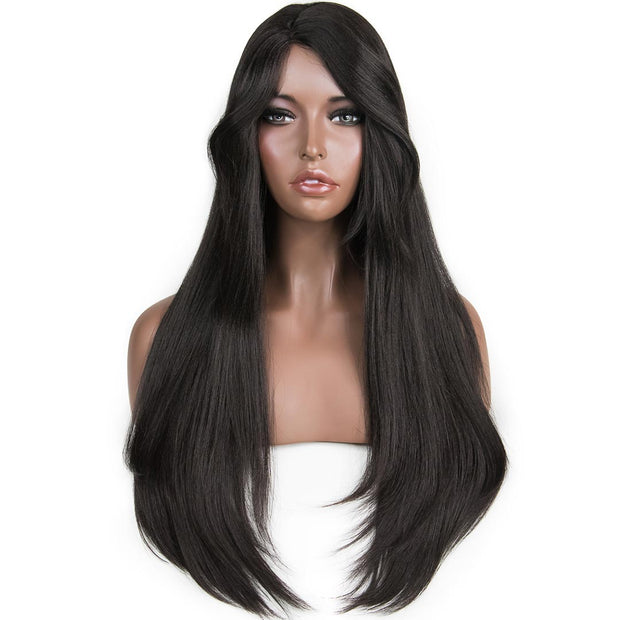 "Catherine | 24"" Black Straight Wig"