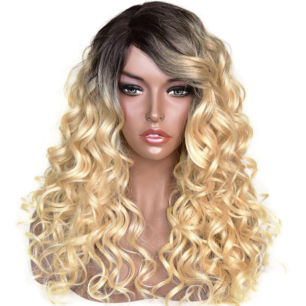 "Rachel | 22"" Blonde Curly Wig with Dark Roots"