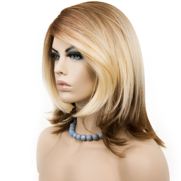 "Sharon | 14"" Tricolor Mix Blonde/Brown Wig"