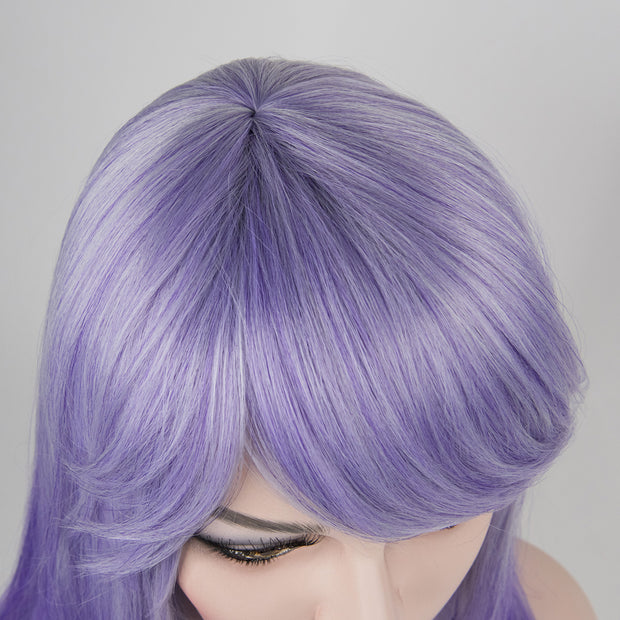 "Sherry | 16"" Straight Lavender Purple Synthetic Wig"