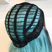 "Tiffany 20"" Black Roots Teal Ombre Lace Front Wig Her Wig Closet"