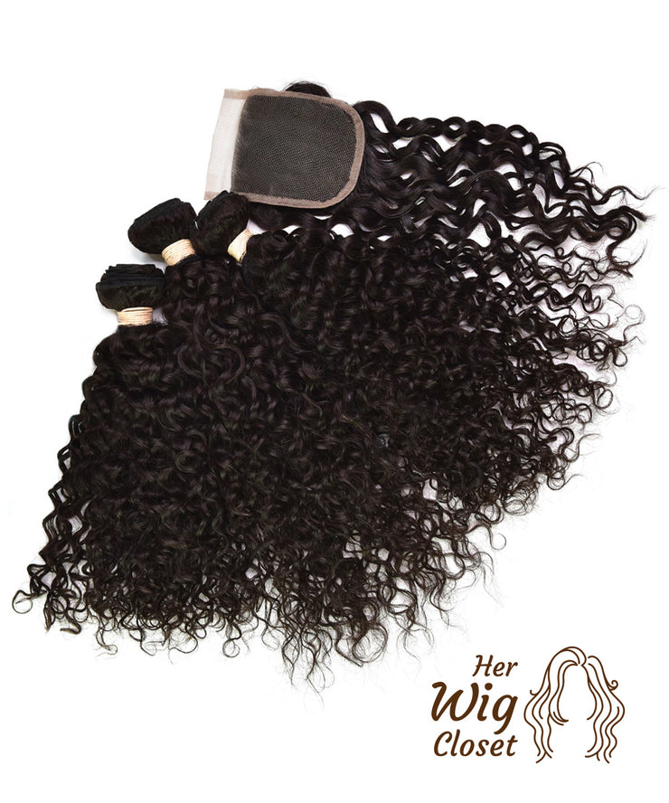 Water Wave Human Virgin Hair Unprocessed Indian Curly
